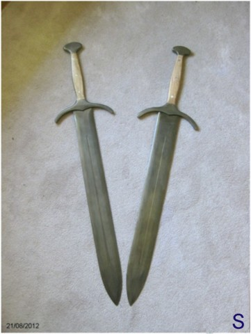 Brace of finished swords